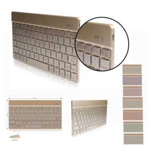 DINGRICH Backlit 7-Colors Ultra Light & Slim Portable wireless Bluetooth Keyboard