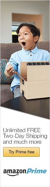 Amazon Prime - 2 Day free shipping, get your 30 day free trial now!