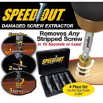 Speed Out Extractor - Broken Bolt and Damaged Screw Extractor 4 Piece Kit