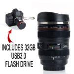 Camera Lens Travel Thermos & Camera Shape 32GB USB 3.0 Flash Drive