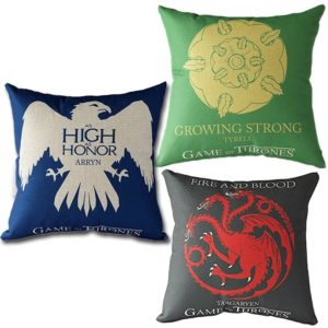 3pcs Game of Thrones Cushion Pillowcase